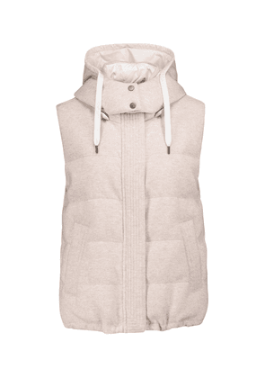 Reversible quilted down cashmere vest
