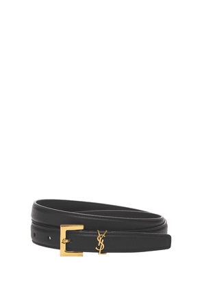 20mm Leather Logo Belt