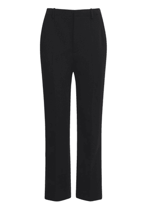 Wool Blend Jersey Wide Leg Pants