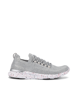 APL: Athletic Propulsion Labs TechLoom Breeze Sneaker in Metallic Silver. Size 6, 10.