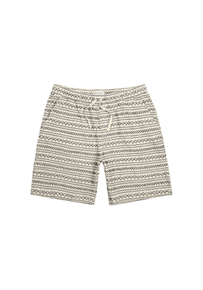 Oliver Spencer Weston Rusper Embroidered Knitted Cotton Shorts