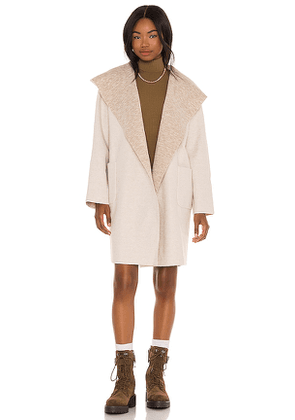 LBLC The Label Vanessa Hooded Cardigan in Cream. Size L.