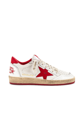 Golden Goose Ballstar Sneaker in White. Size 36.