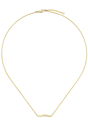 Gucci 18kt yellow gold Link to Love Gucci bar necklace