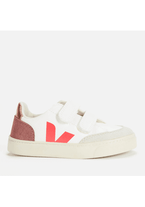 Veja Kids' V-12 Velcro Trainers - Extra White/Multi/Dried Petale - UK 11.5 Kids