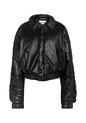 Aida faux leather bomber jacket