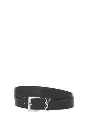 3cm Ysl Leather Belt
