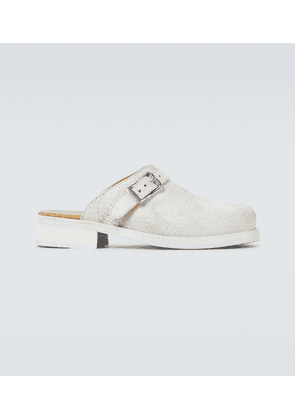 Camion coated suede mules
