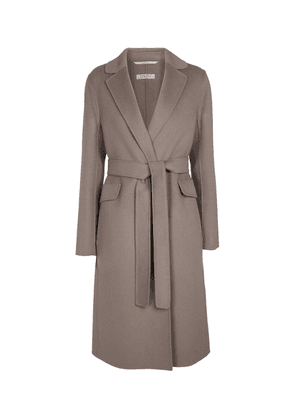 Polly belted virgin wool coat