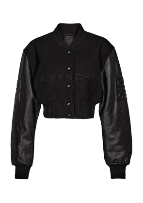 4G cropped bomber jacket