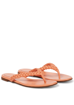 Tropea leather thong sandals