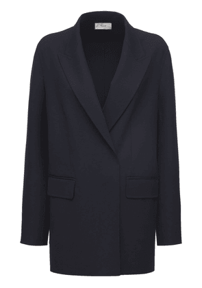 Stretch Wool Double Breasted Jacket
