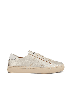 Soludos Ibiza Sneaker in Metallic Gold. Size 5.5.
