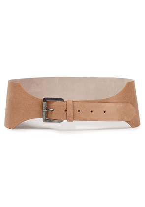 Brunello Cucinelli Brushed-leather Waist Belt Woman Sand Size L