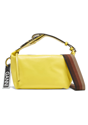 Ganni Leather Shoulder Bag Woman Yellow Size --