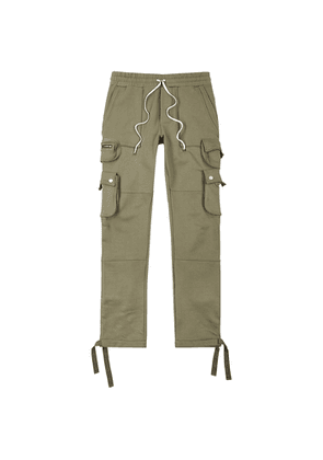Amiri Tactical Army Green Cotton Cargo Sweatpants
