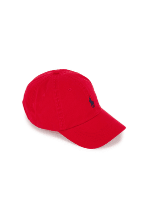 Polo Ralph Lauren Red Logo-embroidered Twill Cap
