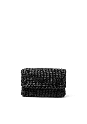 Michael Kors Collection Carly Hand-knit Leather Envelope Clutch