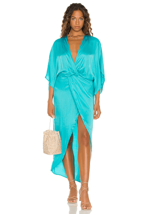 Young, Fabulous & Broke Siren Maxi Dress in Blue. Size S, M, L.