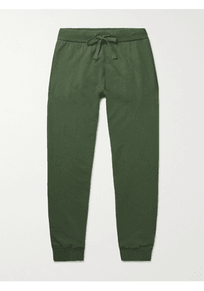 ASPESI - Tapered Cotton, Cashmere and Wool-Blend Sweatpants - Men - Green - IT 50
