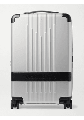 MONTBLANC - #MY4810 Cabin Compact 55cm Leather-Trimmed Polycarbonate Suitcase - Men - Silver