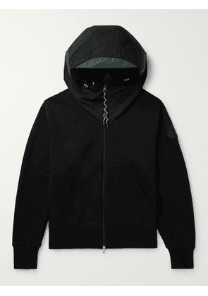MONCLER - Oversized Cotton and Nylon Hoodie - Men - Black - L