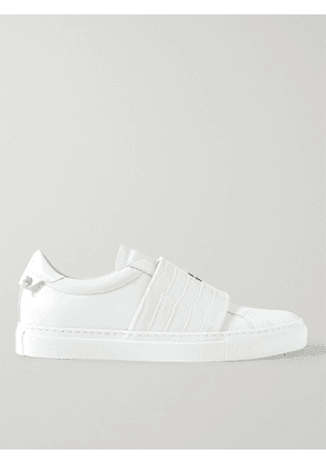 GIVENCHY - Urban Street Smooth and Croc-Effect Leather Slip-On Sneakers - Men - White - EU 40