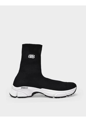 Balenciaga Speed 3.0 Sneakers in Black/White/Black Canvas