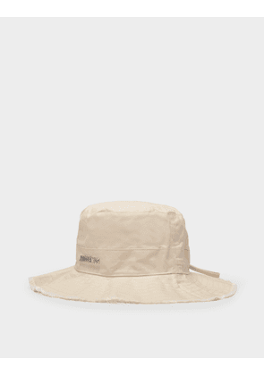 Jacquemus Le Bob Artichaut Hat In Off White Cotton