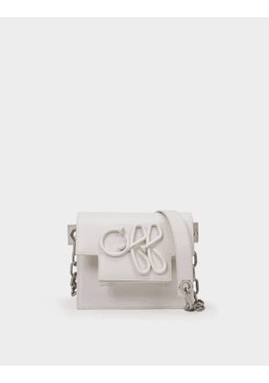 Off-White Off Shoulder Bag 18 in White Calfskin Leather