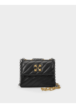 Off-White Jackhammer Shoulder Bag 19 in Black Leather