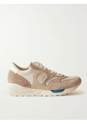 VISVIM - Roland Leather-Trimmed Suede and Mesh Sneakers - Men - Neutrals - 9