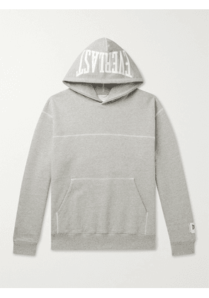 REIGNING CHAMP - Everlast Logo-Print Loopback Cotton-Blend Jersey Hoodie - Men - Gray - M