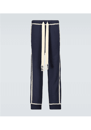 Anagram embroidered sweatpants