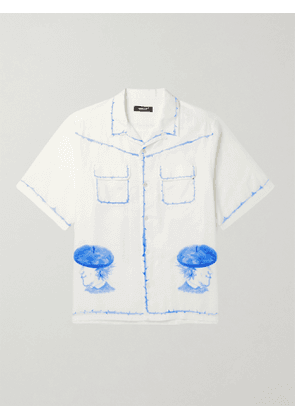 UNDERCOVER - Camp-Collar Printed Cotton-Voile Shirt - Men - White - 3