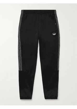ADIDAS ORIGINALS - SPRT Slim-Fit Tapered Logo-Embroidered Striped Recycled Jersey Sweatpants - Men - Black - XS
