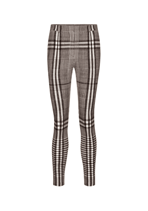 Checked stretch-jersey leggings