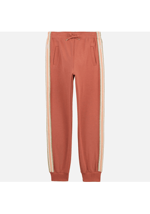 Chloe Girls' Sweatpant Trousers - Brick - 8 Years