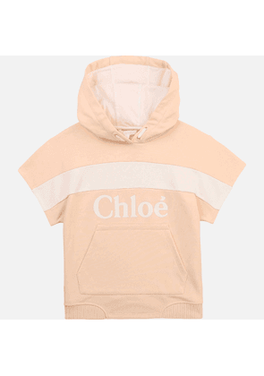 Chloe Girls' Hooded Stripe Sweatshirt - Pale Pink - 3 Years