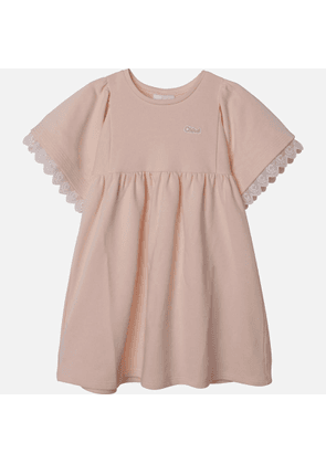 Chloe Girls' Frill Dress - Pale Pink - 3 Years