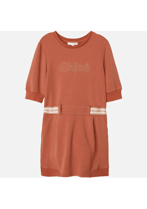 Chloe Girls' Sweatshirt Dress - Brick - 3 Years