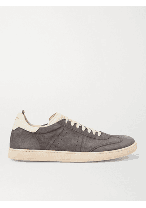OFFICINE CREATIVE - Kombo Leather-Trimmed Suede Sneakers - Men - Gray - EU 40