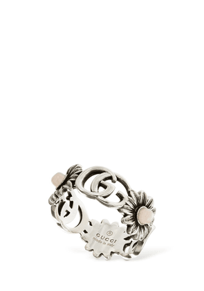 Double G Flower Ring W/ Mother Of Pearl