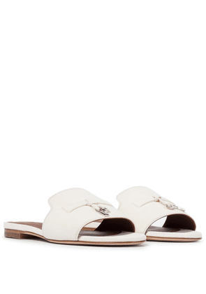 Summer Charms suede slides
