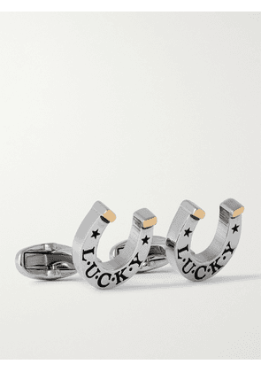 PAUL SMITH - Lucky Horseshoe Silver and Gold-Tone Cufflinks - Men - Silver