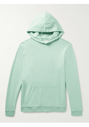 ONIA - Garment-Dyed Loopback Cotton-Jersey Hoodie - Men - Green - M