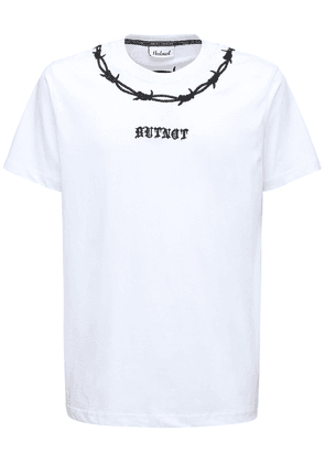 Wired Logo Cotton T-shirt