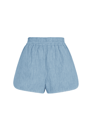 Cotton chambray shorts