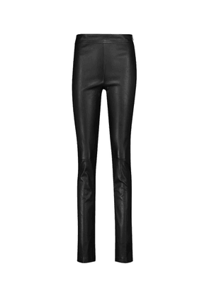 High-rise skinny leather pants