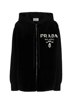 Cashmere and shearling hoodie